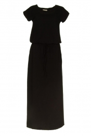Blaumax |  Maxi dress with drawstring Townsville | black  | Picture 1