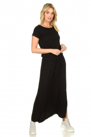 Blaumax |  Maxi dress with drawstring Townsville | black  | Picture 2