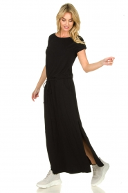 Blaumax |  Maxi dress with drawstring Townsville | black  | Picture 3