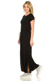 Blaumax |  Maxi dress with drawstring Townsville | black  | Picture 5