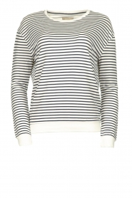 Blaumax |  Striped sweater Albany | white  | Picture 1