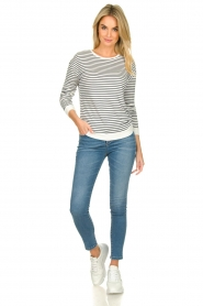 Blaumax |  Striped sweater Albany | white  | Picture 3