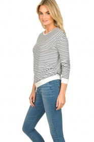 Blaumax |  Striped sweater Albany | white  | Picture 5