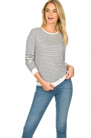 Blaumax |  Striped sweater Albany | white  | Picture 2
