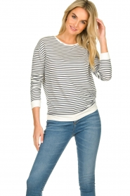 Blaumax |  Striped sweater Albany | white  | Picture 4