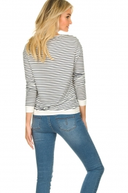 Blaumax |  Striped sweater Albany | white  | Picture 6