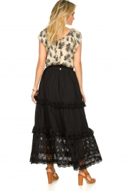 Antik Batik |  Maxi skirt with ruffles Ally | black  | Picture 5