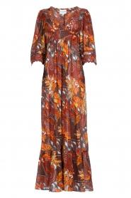 Antik Batik |  Cotton dress with print Ramba | brown  | Picture 1