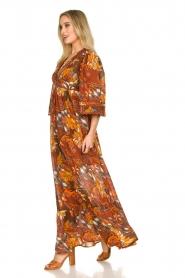 Antik Batik |  Cotton dress with print Ramba | brown  | Picture 6