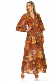 Antik Batik |  Cotton dress with print Ramba | brown  | Picture 5