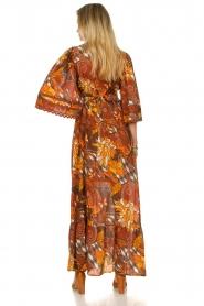 Antik Batik |  Cotton dress with print Ramba | brown  | Picture 7