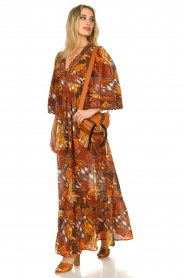 Antik Batik |  Cotton dress with print Ramba | brown  | Picture 3
