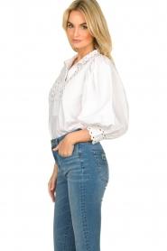Antik Batik |  Popline blouse Malia | white  | Picture 5