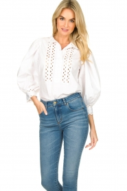 Antik Batik |  Popline blouse Malia | white  | Picture 2