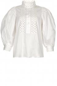 Antik Batik |  Popline blouse Malia | white  | Picture 1