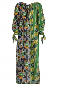 Antik Batik |  Maxi dress with print | green  | Picture 1