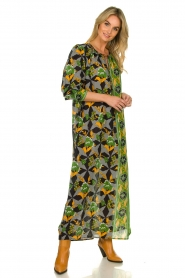 Antik Batik |  Maxi dress with print | green  | Picture 6