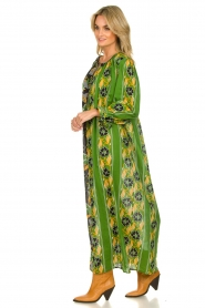 Antik Batik |  Maxi dress with print | green  | Picture 4