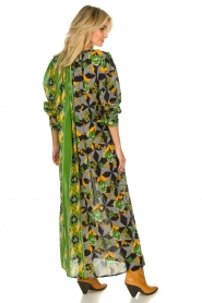 Antik Batik |  Maxi dress with print | green  | Picture 5