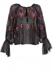 Antik Batik |  Blouse with sequins Emilia | black  | Picture 1