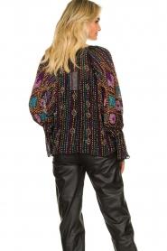 Antik Batik |  Blouse with sequins Emilia | black  | Picture 7