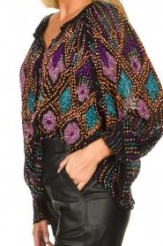 Antik Batik |  Blouse with sequins Emilia | black  | Picture 6