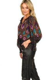 Antik Batik |  Blouse with sequins Emilia | black  | Picture 5
