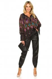 Antik Batik |  Blouse with sequins Emilia | black  | Picture 3