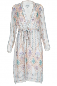Antik Batik |  Sequin wrap dress Emilia | white  | Picture 1