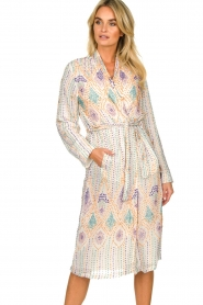 Antik Batik |  Sequin wrap dress Emilia | white  | Picture 2