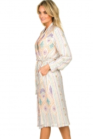 Antik Batik |  Sequin wrap dress Emilia | white  | Picture 4