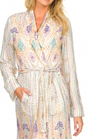 Antik Batik |  Sequin wrap dress Emilia | white  | Picture 6