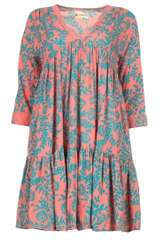 Genesis |  Print dress Agra | red  | Picture 1