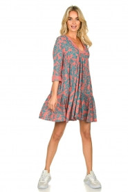 Genesis |  Print dress Agra | red  | Picture 3