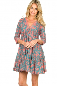 Genesis |  Print dress Agra | red  | Picture 4