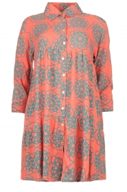 Genesis |  Buttoned print dress Anju | red  | Picture 1