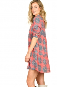Genesis |  Buttoned print dress Anju | red  | Picture 5