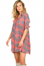 Genesis |  Buttoned print dress Anju | red  | Picture 4