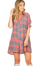 Genesis |  Buttoned print dress Anju | red  | Picture 2