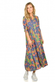 Genesis |  Floral maxi dress Anju | red  | Picture 3