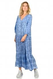 Genesis |  Maxi dress Jaipur | blue  | Picture 3