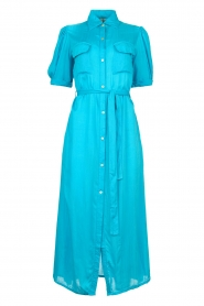 Genesis |  Buttoned maxi dress Kira | blue