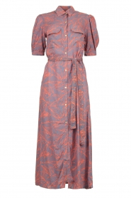 Genesis |  Buttoned maxi dress Kira | blue  | Picture 1