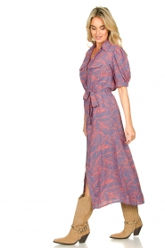 Genesis |  Buttoned maxi dress Kira | blue  | Picture 5