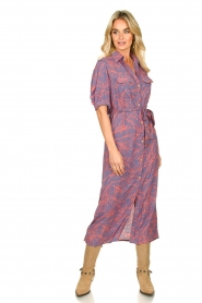 Genesis |  Buttoned maxi dress Kira | blue  | Picture 4