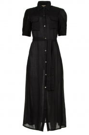 Genesis |  Buttoned maxi dress Kira | black  | Picture 1