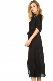 Genesis |  Buttoned maxi dress Kira | black  | Picture 5