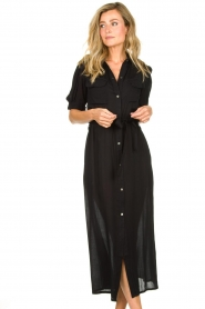 Genesis |  Buttoned maxi dress Kira | black  | Picture 2