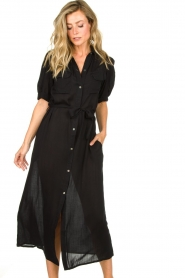 Genesis |  Buttoned maxi dress Kira | black  | Picture 4