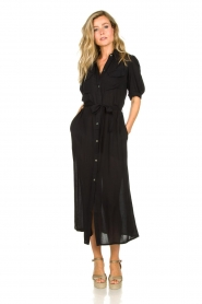 Genesis |  Buttoned maxi dress Kira | black  | Picture 3